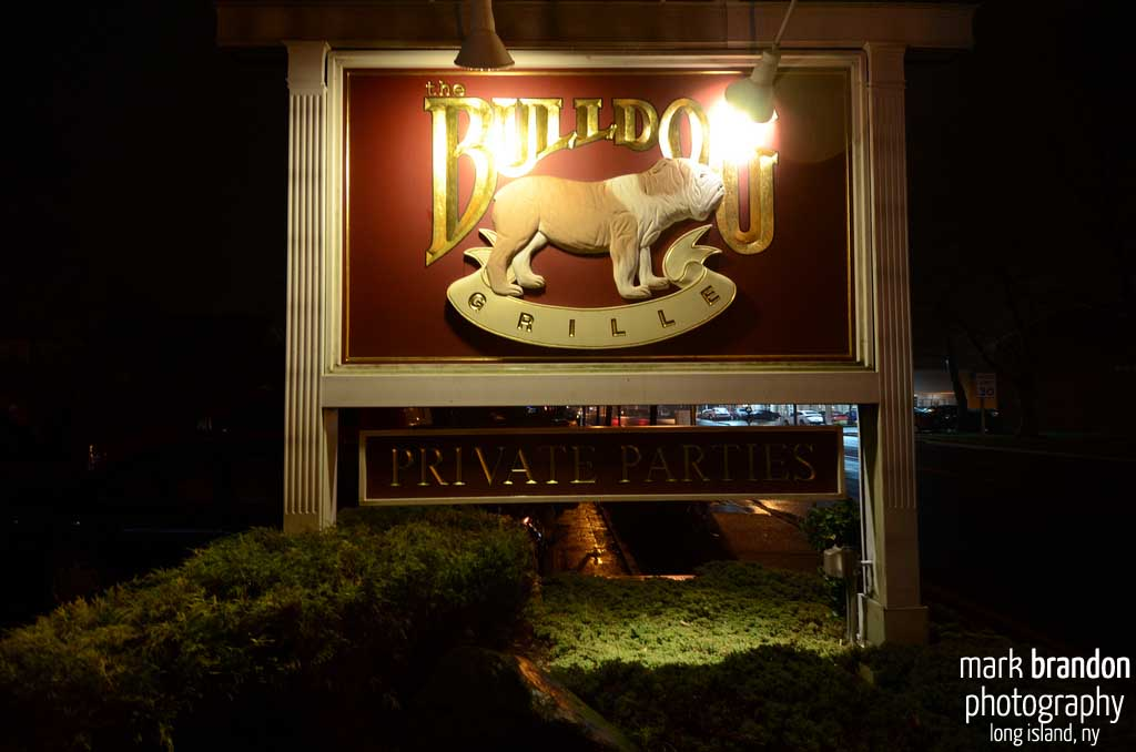 Bulldog Night Sign