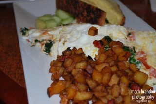 Grillfire Merrick Omelet and Home Fries